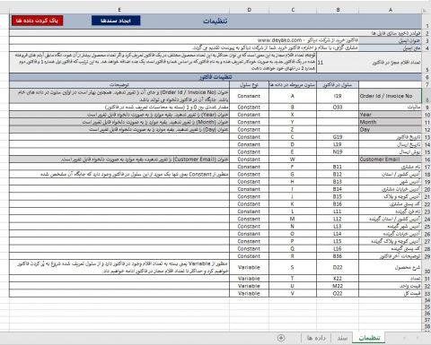 ایجاد و ارسال انبوه ایمیل فاکتور و مستندات